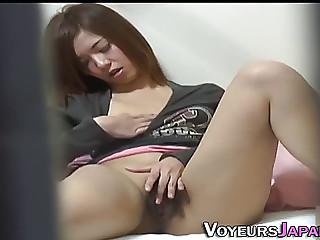 Oriental whore rubbing love tunnel