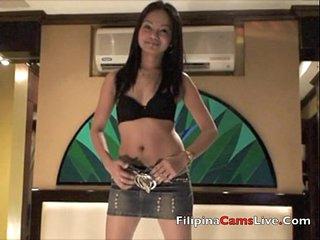 Asian Filipina GOGO bar girl asiancamslive.com strips live in Manila Hotel