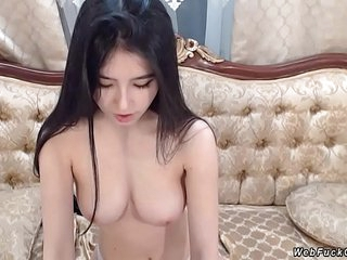 Petite Asian amateur has private webcam