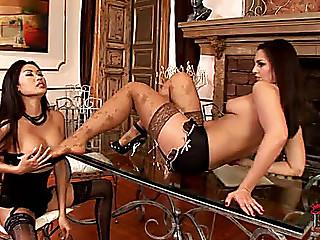 Oriental and dark brown foot fetish menacingfearsome nylons heels nylon feet foot licking