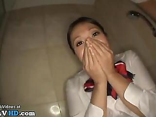 Breasty japanese screwed in juicy hose